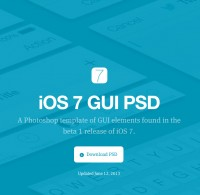 iOS 7 Beta psd file by theehan+lax